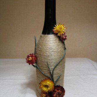 Декор бутылок — красивые идеи оформления и советы как украсить интерьер при помощи бутылок (115 фото)