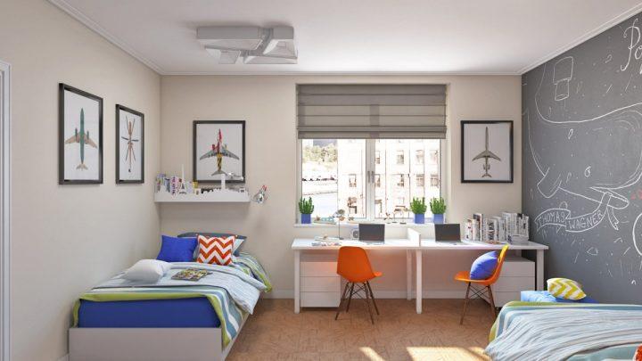 Детская комната для разнополых детей — 90 фото идей зонирования и применения современных сочетаний для двух детей