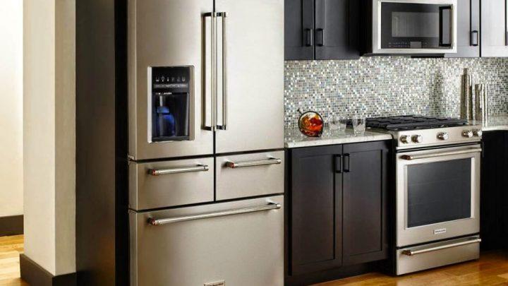 Кухня с холодильником — 90 фото примеров современного дизайна и идеи оформления кухонной бытовой техники