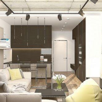 Квартира 30 кв. м.: современные идеи, варианты красивого оформления и идеи распределения места (100 фото)