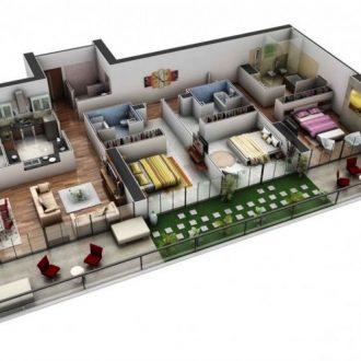 Планировка 3 комнатной квартиры — варианты интерьера и советы по выбору дизайна и стиля (140 фото)