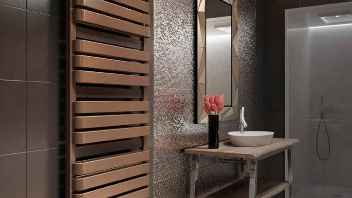 Полотенцесушитель для ванной — красивые и необычные варианты оформления ванной при помощи полотенцесушителя (105 фото)