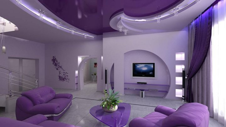 Потолок в гостиной — лучшие идеи отделки и современные варианты оформления потолков (115 фото и видео)