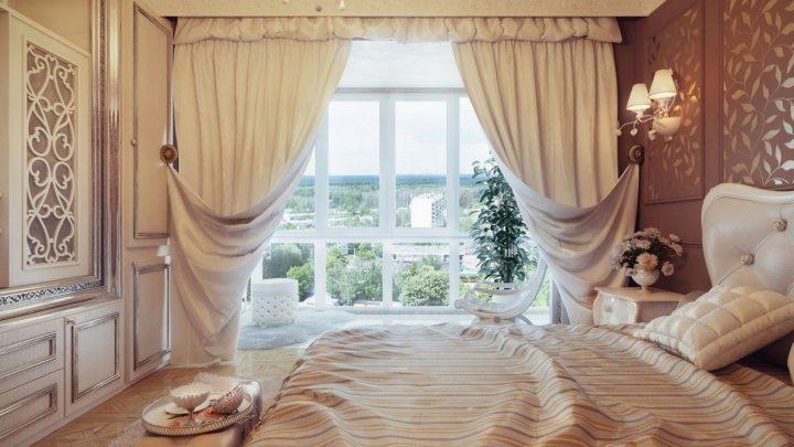 Шторы в спальню — современные модные варианты и рекомендации по пошиву штор (80 фото)