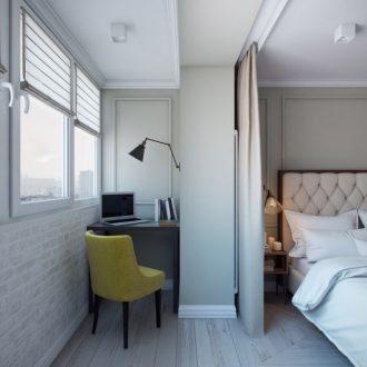 Совмещенная спальня — 85 фото лучших идей интерьера для совмещенных комнат с гостиной, кухней или балконом