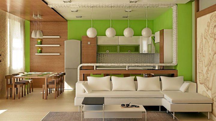 Зонирование кухни — лучшие дизайнерские решения и идеи оформления для различных типов кухонь (105 фото)