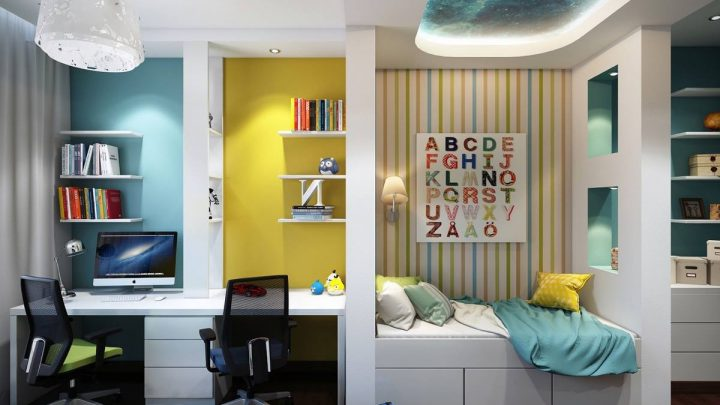 Как оформить детскую комнату — обзор новинок, лучшие стильные идеи и варианты оформления детской (95 фото)